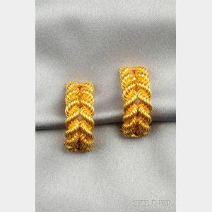 18kt Gold Earclips, Hermes