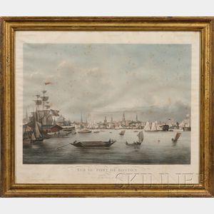 L. Garneray, artist, Hocquart, publisher, Paris, Bailly Ward & Co., New York       Vue du Port de Boston. View of the Port of Boston.