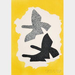 Georges Braque (French, 1882-1963)      Les trois oiseaux en vol