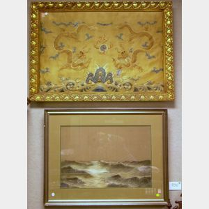 Two Framed Asian Textiles