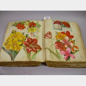 Large Late Victorian Chromolithograph Scrap Album