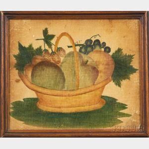 American School, 19th Century    Theorem of a Basket of Fruit.