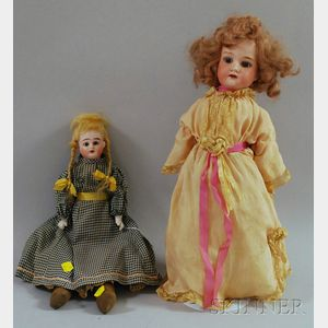 Two German Bisque Dolls
