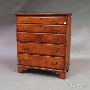 Chippendale Maple Two-drawer Blanket Chest