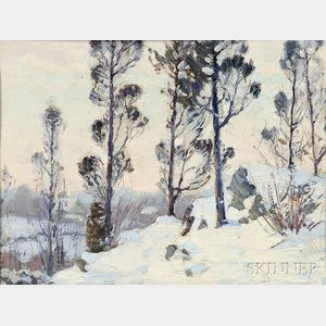 American School, Late 19th/Early 20th Century      Winter Landscape, New England