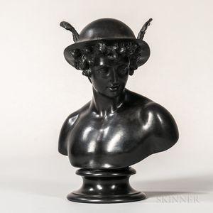 Wedgwood Black Basalt Bust of Mercury
