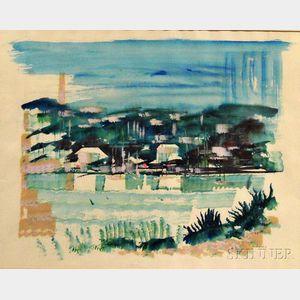 Alfred Birdsey (Bermudian, 1912-1996)      Shoreline Landscape