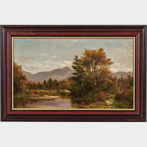 White Mountain School, 19th Century      Mountain in Early Autumn, Possibly Mount Chocorua