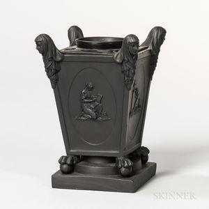 Turner Black Basalt Bough Pot and Cover