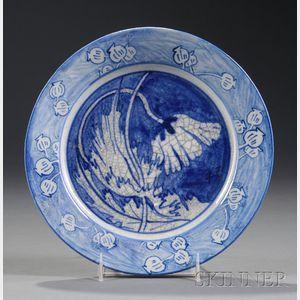 Dedham Pottery Poppy Plate