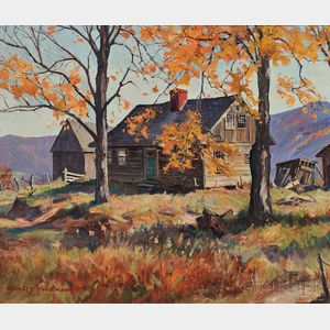 Stanley Wingate Woodward (American, 1890-1970)    Cabin in the Hills