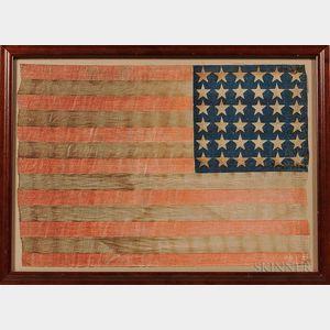 Thirty-six-star Printed U.S. Flag