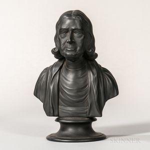 Wedgwood Black Basalt Bust of Wesley