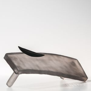 Naomi Shioya Sleeping Table   Art Glass Sculpture