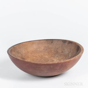 Turned and Red-stained Bowl