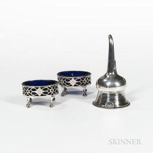 Three Pieces of Georgian Sterling Silver Tableware