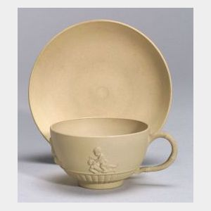 Wedgwood Caneware Tea Cup and a Saucer