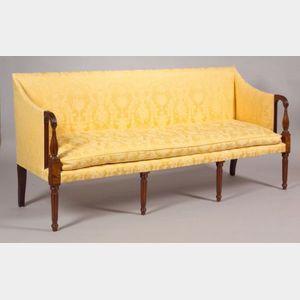 Federal Mahogany Inlaid Sofa