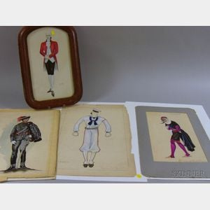 Twenty Mostly Unframed Broadway Costume Designs