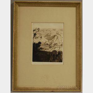 Walter Edward Bohl (American, 1907-1990)      Canyon Shadows