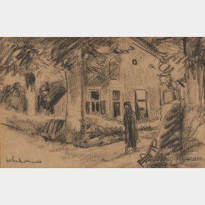 Max Liebermann (German, 1847-1935)      Figure on a Path