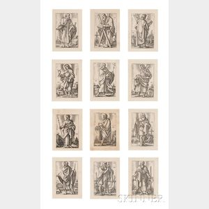 Hans Sebald Beham (German, 1500-1550)      The Twelve Apostles  /A Suite of Twelve Prints