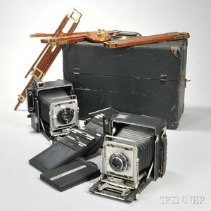 Two Crown Graphic Cameras and Accessory Kit