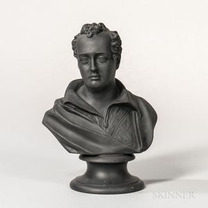 Wedgwood Black Basalt Bust of Byron