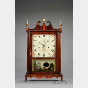 Mahogany Pillar and Scroll Off-Center Clock by Seth Thomas