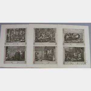 William Hogarth (British, 1697-1764)      Industry and Idleness  /A Suite of Twelve Engravings