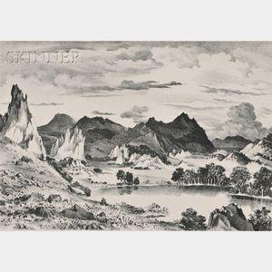 Adolf Arthur Dehn (American, 1895-1968)      Three Landscapes Published by Associated American Artists, New York: