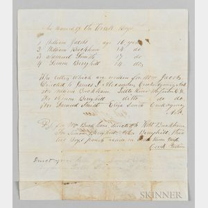 "Handwritten Letter to ""Rev. E.T. Perry, Manual L School, Shawnee Nation,"" from the ""Post Office for Indian Boys,"""