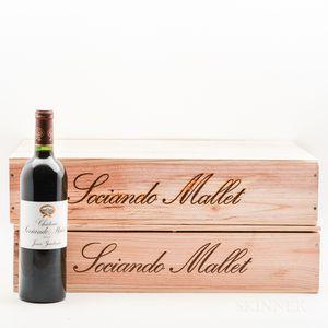 Chateau Sociando Mallet 2007, 12 bottles (2 x owc)