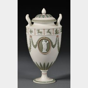 Wedgwood Three-color Jasper Vase and Cover