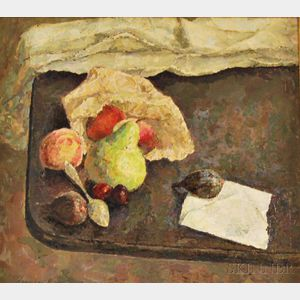 Herman Rose (American, 1909-2007)      Still Life with Fruit