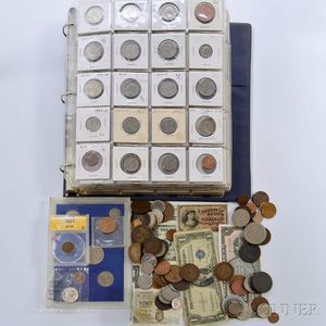 Large Group of Assorted American and Foreign Coins and Tokens