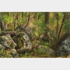 Julian Alden Weir (American, 1852-1919)      Forest Scene