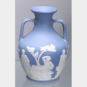 Wedgwood Solid Light Blue Jasper Portland Vase