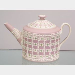 Wedgwood Three-Color Jasper Dip Diceware Teapot and Cover