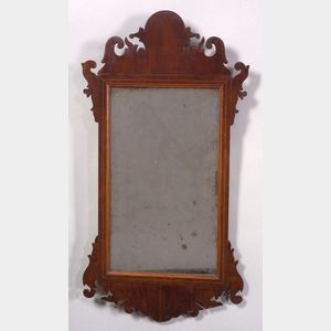 Chippendale Mahogany Inlaid Mirror