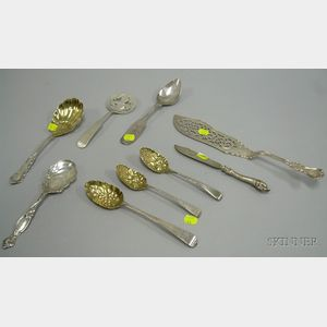 Nine Assorted Sterling Silver Flatware Items