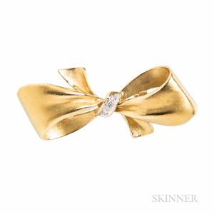 18kt Gold and Diamond Bow Enhancer
