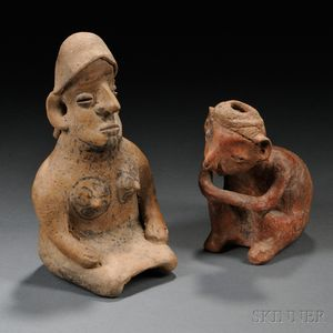 Two West Mexican Pre-Columbian Pottery Figures