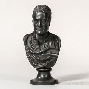 Wedgwood & Bentley Black Basalt Bust of Newton