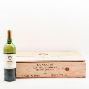 La Clarte de Haut Brion 2012, 6 bottles (oc)