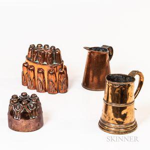 Four Copper Kitchen Items