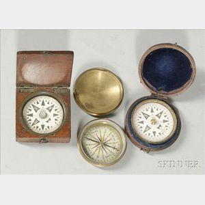 Three Pocket Compasses