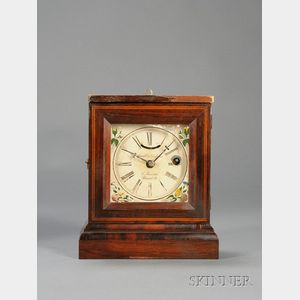 Rosewood Miniature Shelf Clock by Elisha Manross