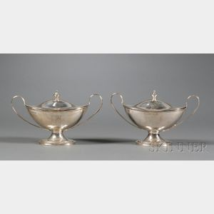 Pair of George III Silver Covered Sauce Tureens