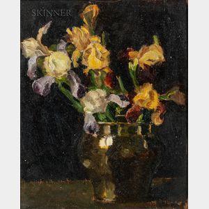 Hildgarde Nichols (American, 20th Century)      Vase of Irises